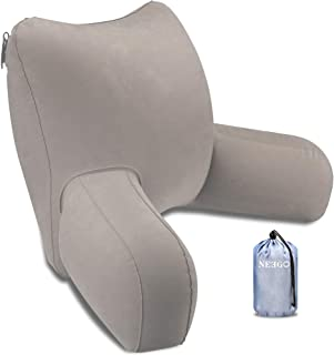 iNeego Almohada de Lectura Hinchable portátil de Lectura para Respaldo de Cama Almohada de Lectura cómoda Almohada de Lect...