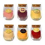 Lumabase 27906 Wine Scented Candles, 3oz Glass Holders 6 Count