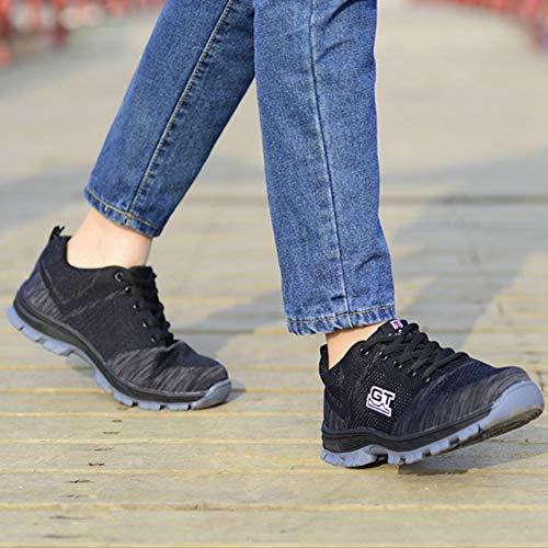 DDST Zapatillas de correr para hombres y mujeres deportes de moda zapatillas de deporte interior al aire libre caminar fitness jogging atlético carretera casual calzado, 0, 11, 46