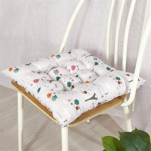 XHCP 2er Pack quadratische Stuhlsitzkissen, dekorative Sitzkissenkissen, rutschfeste Gesteppte Sitzkissen Sitzkissen aus Baumwollleinen für Gartenhäuser (Nr. 3,40 * 40 cm)