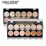 Miss Rose Corrective Concealer Contour Palette Brighten Foundation Base Facial Cream Corrector