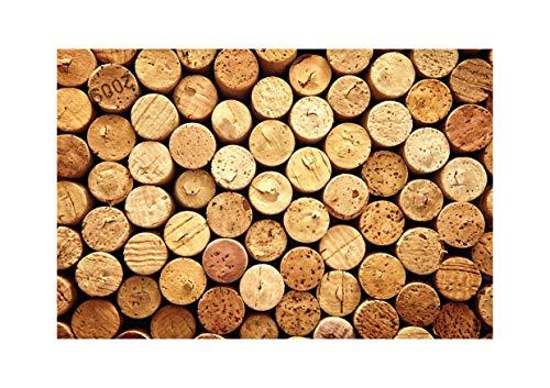 Tovagliette di carta [Confezione da 50] dimensione DIN A3 (42 x 29.7 cm) Usa e Getta. Riciclabile Monouso Antimacchia. Disegni di Sughero del Vino