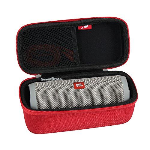Hermitshell Hard EVA Travel Case Fits JBL Flip 3 / Flip 4 Splashproof Portable Bluetooth Speaker (Red)