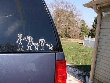 Stick Figure Car Stickers