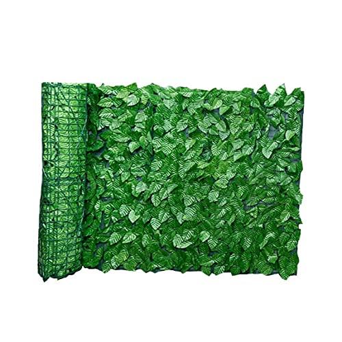 Pannelli di Recinzione Foglia Pannelli Artificiali Screen a Foglia Artificiale Hedge Privacy Recinzione Roll Parete Landscaping Giardino all'aperto Giardino Backyard Balcone Recinzione 0.5x1m