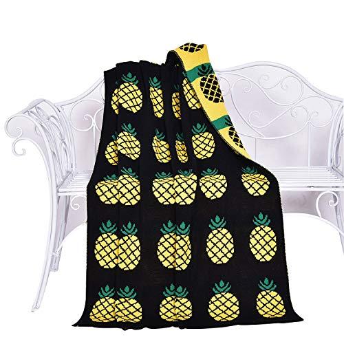 YOUSA Pineapple Blanket Throw Pineapple Bed Blanket 35''43''