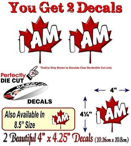 "Happy Cartoon Beaver Canada Flag Car Bumper Sticker Decal /""SIZES/'/'"
