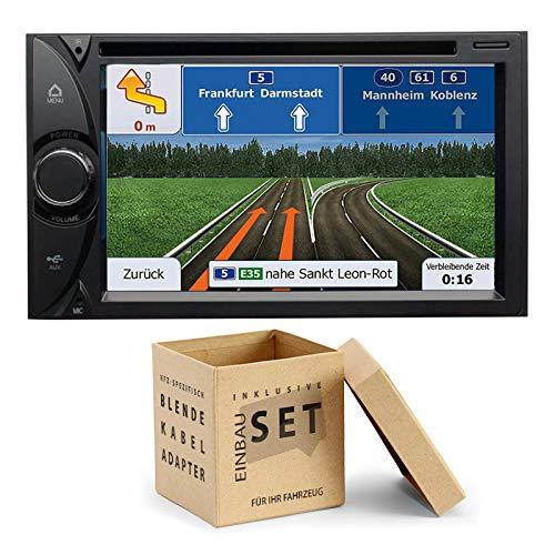 ESX VN620D 2-DIN Naviceiver Bluetooth DVD USB passend für Jeep Grand Cherokee III 2005-2007 schwarz