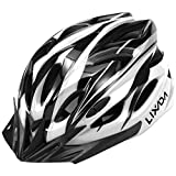 Lixada Casco de Bicicleta Ligero con Visera y Luz LED en Molde Casco Protector para MTB Bicicleta de Carretera Hombres y Mujeres