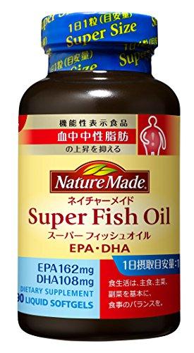 【Amazonベストセラー1位】 大塚製薬 ネイチャーメイド スーパーフィッシュオイル(EPA/DHA) 90粒(機能性表示食品)