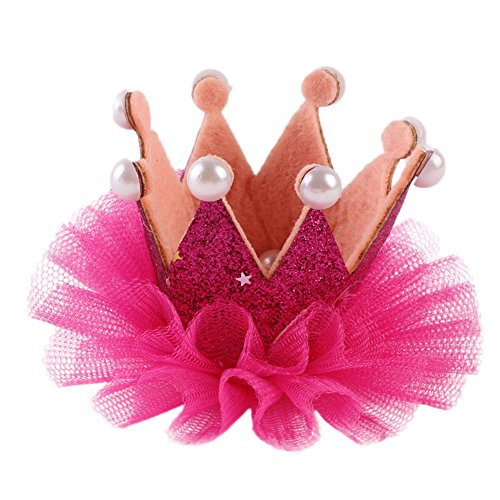 LAMEIDA Barettes mignon Pince à Cheveux Fil net Couronne pour fille accessoires de coiffure 1PCS Rose