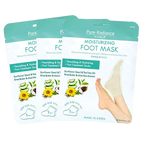 Pure Radiance by CALA Moisturizing Foot Masks 3 Pairs.