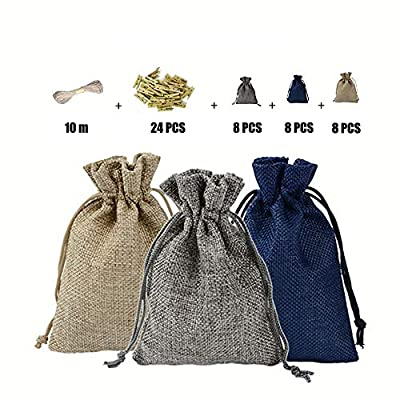 Burlap Bags with Drawstring Bag for Party Favor...