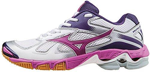 Mizuno Wave Bolt Wos, Zapatillas de Voleibol Mujer, Bianco (White/Rosebud/Mulberrypurple), 37 EU