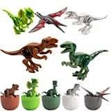 VOEER Dinosaur Toys for Kids, 5 Pack Unique Easter Eggs Basket Stuffers Deformable Dinosaur Desktop Decorations Eggs, Party Kids Gifts Toys and Science STEM Learning for Boys Girls