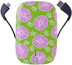 Halo Phone Charger 6000mAh Battery Pack with Built in 3-in-1 Cables Micro and 30 Pin Tips. Power Bank for Phones, Tablets and USB Charging Devices, Floral