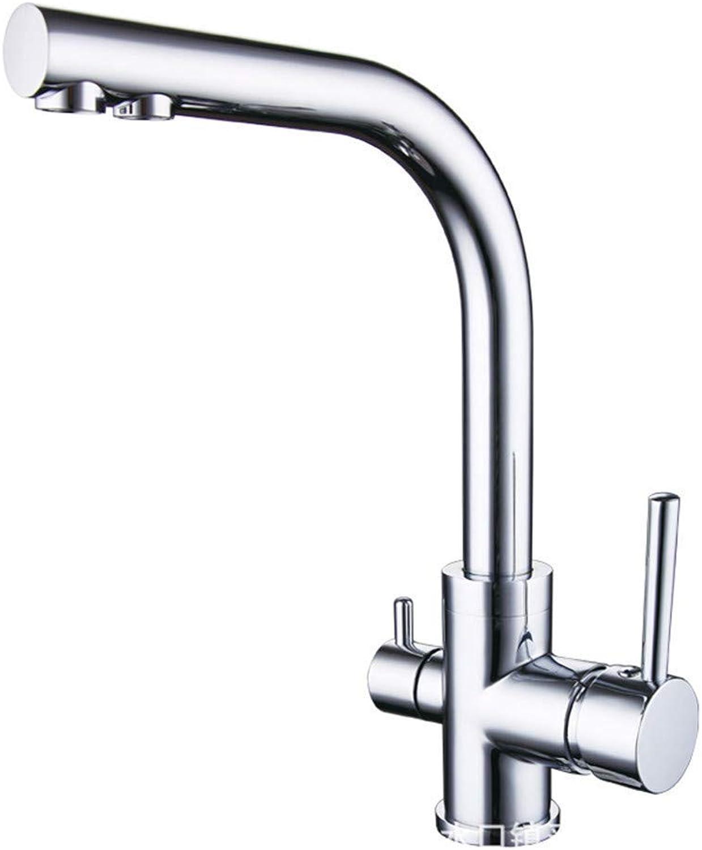 Oudan All Copper Kitchen Vegetables Basin Faucet Sink Faucet Pure (color   -, Size   -)