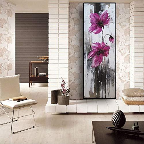 Abstracte Klaproos Bloem Bloemen Schilderijen Olieverfschilderij Kunst Cuadros Posters En Prints Muur Foto Woonkamer A 30x80cm Geen Frame
