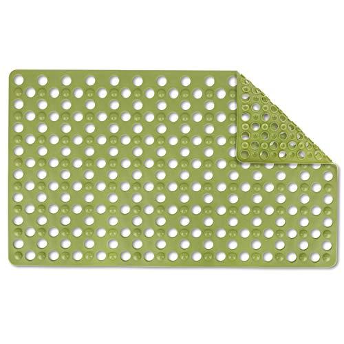 "Coolole Big Hole Massaging Bubbles Anti-Slip Shower Mat/Bath Mat for Kids, Machine Washable Shower Tub Mat,18"" x 31"" (Pea Green)"