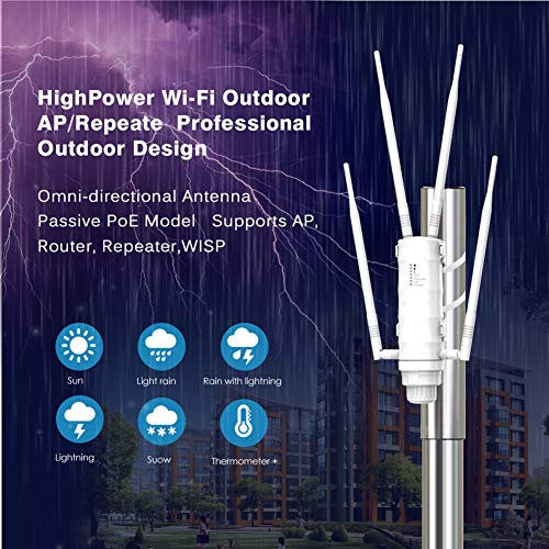 High Power Wi-Fi Outdoor AP/Repeater/Router AC1200 Met Poe En High Gain 2.4G & 5G Antennes Wifi Range Extender Amplifier