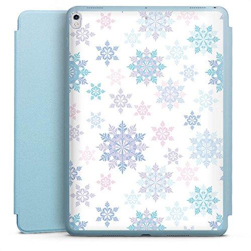 DeinDesign Apple iPad Pro 10.5 2017 Smart Case hellblau Hülle Tasche mit Ständer Smart Cover Frost Schneeflocken Thermomix Motive