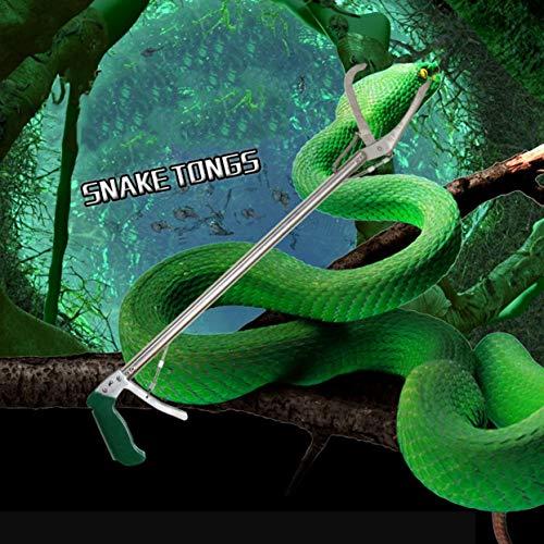 LoveOlvidoD Schlangenklammer 70CM Griffzangen Catcher Stick Selbstsperrfunktion Aluminiumlegierung Reptile Stick