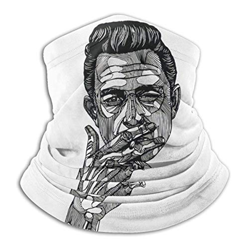 BaoXiaoShou Johnny-Cash Sänger Warm Comfortable Dustproof Sports Atmungsaktiver Gesichtsschutz Nahtloser Bandana-Schal UV-Sport-Sturmhauben