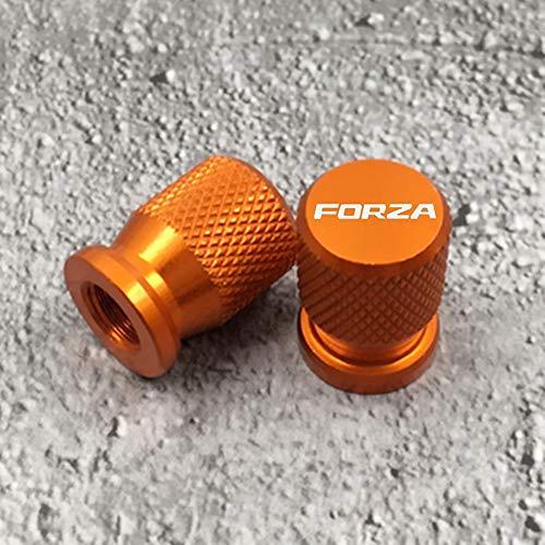 2 Piezas Tapas Válvulas para Neumáticos Motocicleta para Forza 250 300 FORZA300, Aluminio Prueba de Polvo Cubierta con Anillo de Sellado