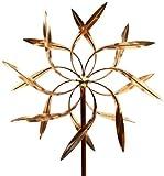 Stanwood cws-02Dual Spinner Dancing Weiden Blätter Kinetic Wind Skulptur–Kupfer