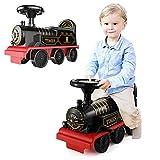 FXQIN Coche eléctrico para niños, 6V Electric Ride on Car for Kids Christmas Train Set Tren de Juegos para Niños con Sonido y Luces Realistas Ride on Toy Tren electrico
