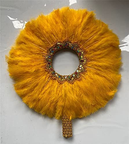 Selling JENFANS Feather Hand Fan Handmade African Luxurious Lace Ranking TOP20 F Dance
