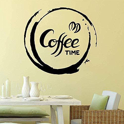 Etiqueta de la pared de PVC removible etiqueta de la pared Cafe Time Art Baby Room Habitación de los niños Creativo 43cmX46cm