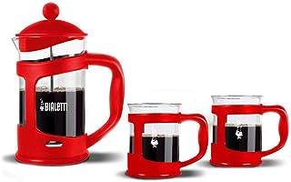 Bialetti Coffee EREITER Set of 2 Mugs, 30 x 20 x 15 cm 3 Units, Glass, red, 30.0 x 20.0 x 15.0 cm, Einheiten