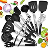 HOT TARGET 11 Silicone Cooking Utensils With Heat Resistant...
