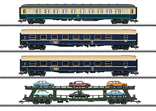 Märklin 42999 H0 4er-Set Personenwagen Autozug der DB