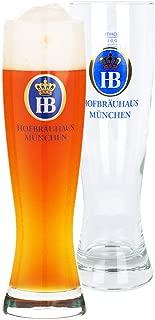 Hofbrauhaus Weißbier glass   Wheat Beer Glass 16.9 oz (0.5 Litres) Pack of 2