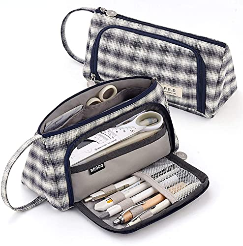 Funda de lápiz Caja de Gran Capacidad Lápices de lápices de Alto Almacenamiento Handheld Pen Bag para la Oficina de Oficina Adolescente Muchacha Hombres Hombres Adulto (Color : A)