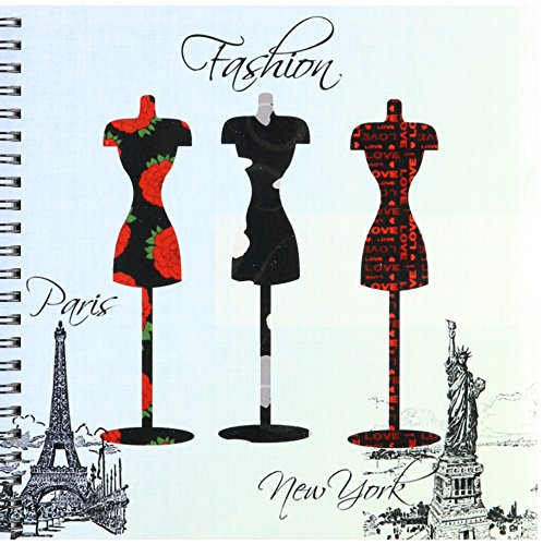3dRose db_123393_1 Paris and New York Fashion Dress Forms Drawing Book, 8 by 8-Inch