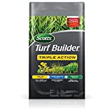 Scotts 4,000 Sq. Ft Turf Builder Triple Action | Kills Weeds Including Dandelions & Clover | Prevents Crabgrass, Feeds & Fertilizes To Build Thick Green Lawns | 26003 Model