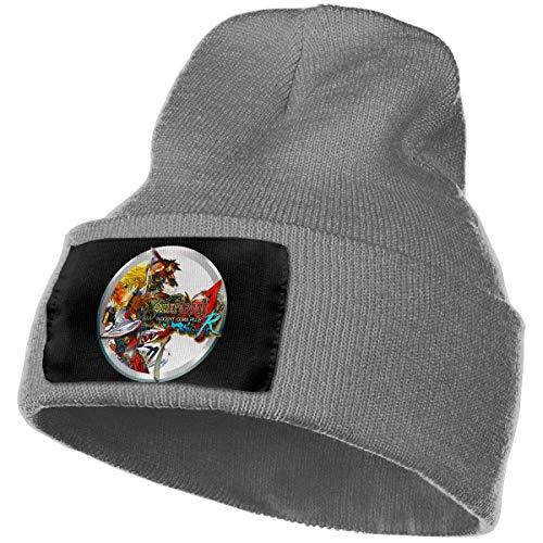 AOOEDM Hombres y mujeres Guilty Gear Xx Accent Core Plus R Skull Beanie Sombreros Gorros de punto de invierno Sombrero de esquí suave y cálido Negro