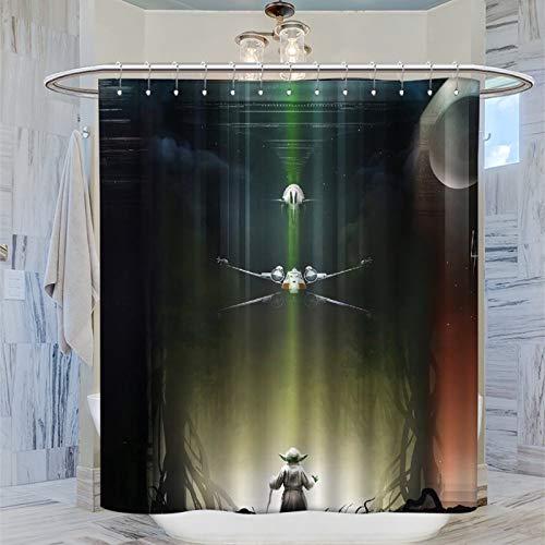 Dekorative Spa-/Hotel-Badezimmervorhänge Darth Vader Death Star Wars Badezimmer Duschvorhang Liner 183 x 183 cm