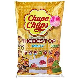 chupa chups the best of bags 120 lollipops Chupa Chups Best of Lollipop Sharing Bag, (Pack of 120) 51vjZjfoXkL