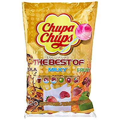 chupa chups the best of bags 120 lollipops Chupa Chups Best of Lollipop Sharing Bag, (Pack of 120) 51vjZjfoXkL
