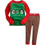 Vaenait Baby 子供 キッズ パジャマ ルームウェア 12か月-9歳 綿100% 上下セット Merry Snow M