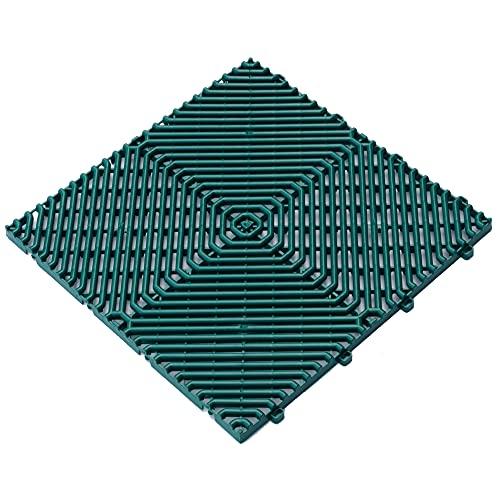 Art Plast pavimento Verde ROMBO, 39,5x39,5x1,7 cm (38,5x38,5 Neto) 1m²: 6 láminas