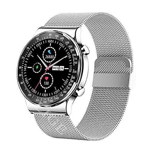 ZRSJ 2021 Nuevo Nuevo Bluetooth Llamada Business Smart Watch Men Fitness Relojes Impermeables Monitor Smartwatch para Hombres Mujeres(f)