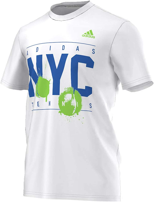 Adidas BP9043-F16 Men`s Adi NYC Tennis Tee White