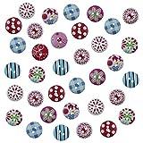 Aweisile Bottoni di Legno 300 Pezzi Bottoni Colorati per Decorare con 2 Fori Bottoni per Cucito Rotondi Misto Bottoni in Legno Boutons Mercerie Fai da Te Artigianato Decorativo Scrapbooking,15mm