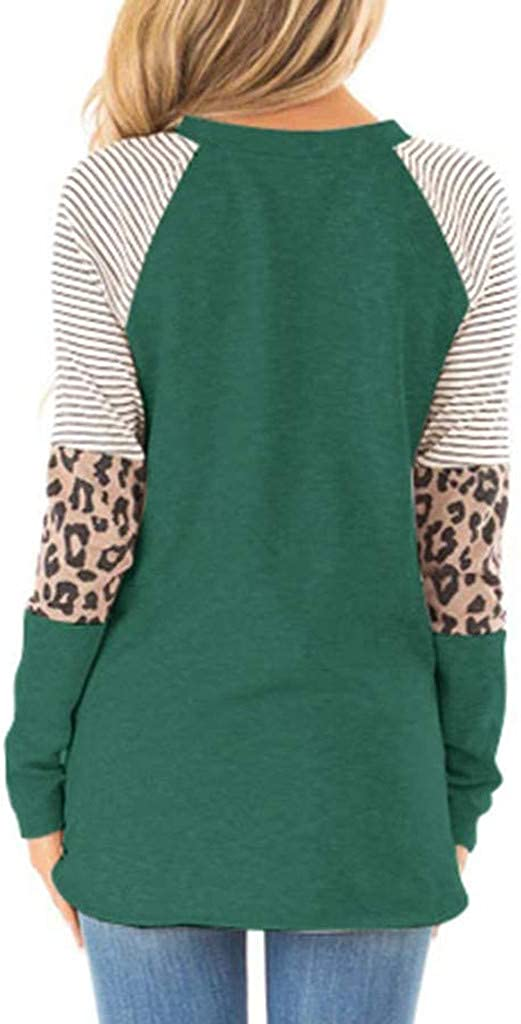 UOCUFY Women Long Sleeve Tops, Womens Tunics Shirts Tops Long Sleeve Casual Loose Crewneck Comfy Pullover Tops