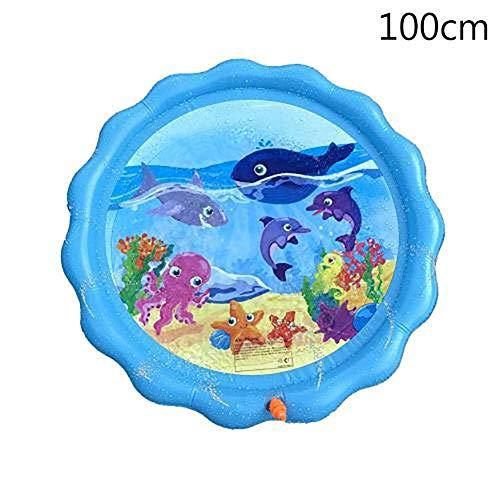 AJH Trampoline Sprinkler, diversión con Juguetes acuáticos para niños pequeños, niños, rociadores para Fiestas al Aire Libre, vadeo y Aprendizaje, Juguetes Exteriores, Juguetes acuáticos para niños